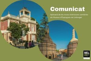 Comunicat. Aplicació de les noves restriccions sanitàries als Museus d'Esplugues de Llobregat